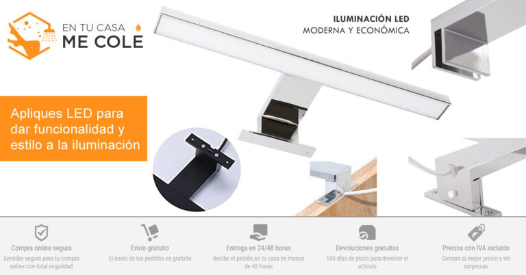 Iluminación LED para cuartos de baños